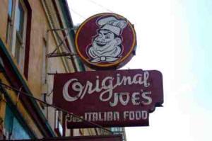 Original Joes sign