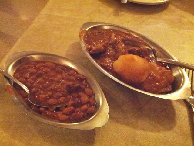 beef stew and beans - photo by The Jab, 2014