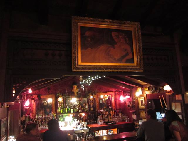 the bar, complete with Victorian nude - photo by Dean Curtis, 2014
